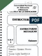 Estructuras Metálicas. Uniones-F. Quintero