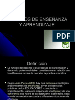 MODELOS DE ENSEÑANZA Y APRENDIZAJE