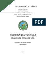 Resumen lectura No.4 Análisis y Diseño de Sistemas