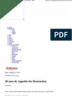 20 anos de Appetite for Destruction - Edição 11 - (Agosto_2007) - Rolling Stone Brasil