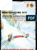 Brochure Challenge Pisteur Montgenevre