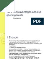 Td 2 - Les Avantages Absolus Et ifs
