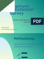 2001 WNMU Employee Survey