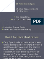 SP - Session 18 Federalism in Spain
