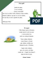Poemes d'animals invertebrats