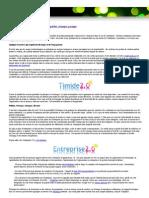 Le web 2.0 en entreprise et ses barrières - publier, échanger, partager