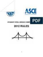Steel Bridge Competition Rules 2012