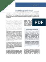 Dimensión geográfica de mercado relevante