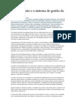 Planejamento e o sistema de gestão da qualidade