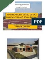 Planificacion y Diseno de Una Planta de Secado Solar Para Aji
