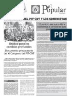 Documento preparatorio al XI Congreso del PITCNT