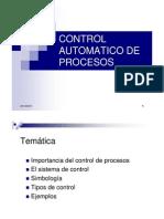Control Automatico de Procesos Clase 1