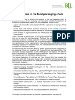 f1 Specifications in the Food Packaging Chain