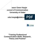 Hargie's model of interpersonal communication