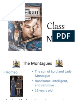 Romeo and Juliet NOTES