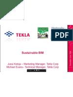 TEKLA Webinar 05-05-2010 Sustainable BIM