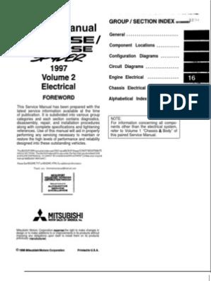 97-99 mitsubishi eclipse Electrical manual | Troubleshooting | RelayScribd