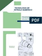 Programacao CNC_TECNOLOGIA DE CONTROLE NUMÉRICO CICLOS FIXOS
