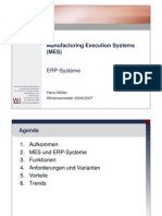 Präsentation - Manufacturing Execution Systems (MES)