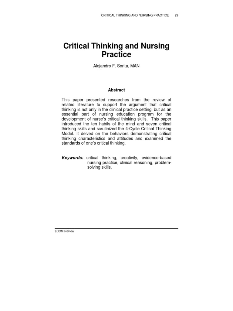 PPT   Critical Thinking and Decision making in Nursing PowerPoint     SlidePlayer Braden Score   Skin Inspection   Interventions   Critical Thinking Pressure Ulcer Prevention