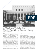 Wealth of Schole J. Paul Getty Center Library