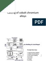 Casting of Cobalt Chromium Alloys