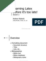 Learning Latex 2