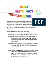 math fact journal