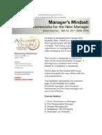 Managers Mindset