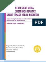 Analisis Framing Kasus TKI Sumiati di Kompas dan Media Indonesia