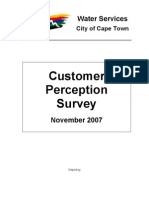 Customer Perception Survey - Water Services, Cape Town - Nov