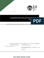 Elaboration Likelihood Model of Persuasion