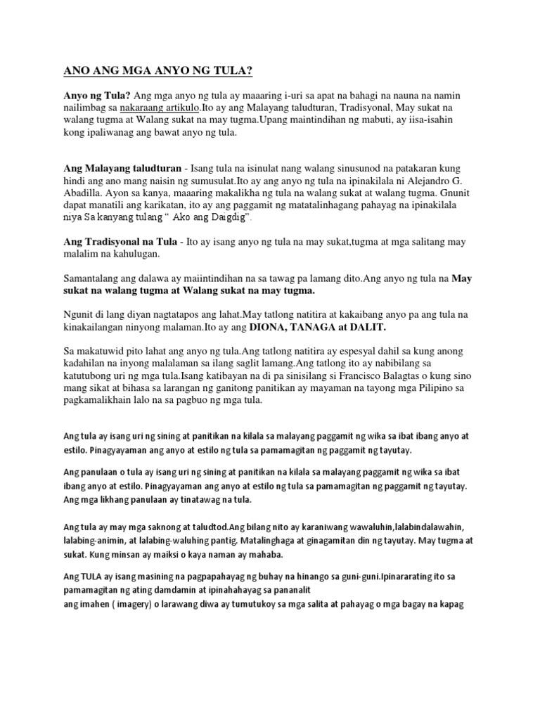 mga tula magkatugma at parihas ang mga sukat Sinikap nilang pag-aralan at gayahin ang mga tulang ito upang magamit nilang kasangkapan sa pagpapalaganap ng kanilang relihiyong katoliko at kabihasnang kanluraninnang dumating ang mga amerikano ginaya ng mga pilipinong makata sa pagsulat ng iba't ibang uri ng tula gaya ng tulang pasalaysay, tulang liriko, elihiya, epiko at iba pa na may.