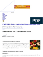 Permutations and Combinations Basics - CAT 2011