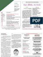 Foglietto domenicale numero 40 del 02/10/2011 Parrocchia S. Andrea Castions di Zoppola