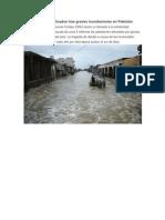 Millones de damnificados tras graves inundaciones en Pakistán