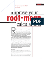 Efficient Root-Mean Calculation