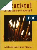 Acatistul pentru cei adormiţi Acatistul pentru un răposat