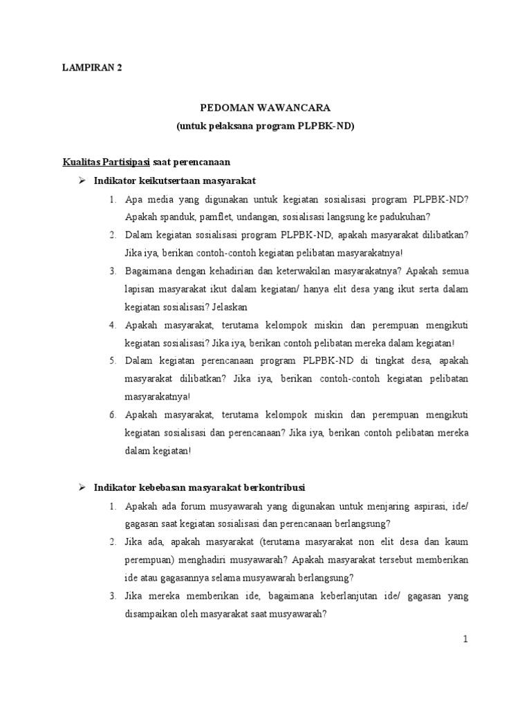 Lampiran 2 Interview Guide