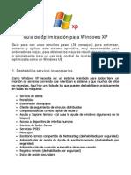 Guia de Optimizacion Para Windows XP