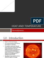 Thermodynamics - Heat and Temperature