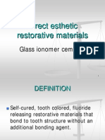 Lecture 5 & 6 - Glass ionomer cements (Slides)