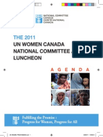 Un Women National Committee Canada Award Luncheon Programme Final