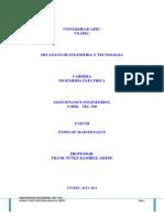 Unapec - Maintenance Engineering (Tec-709) - Unit III