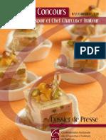 Dossier de presse Concours Jeune Espoir et Chef Charcutier Traiteur
