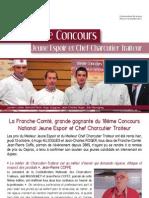 Communiqué de presse Concours Jeune Espoir & Chef Charcutier Traiteur