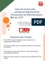 Manejo de Datos Del Aprendizaje Estudiantil Utilizando El Program Ado Excel 2007