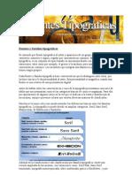 Fuentes y familias tipográficas