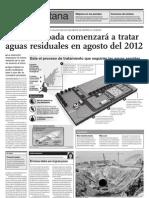 Planta Taboada empezará a tratar aguas residuales en agosto del 2012
