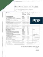 Corp Gov Report 30-09-2009